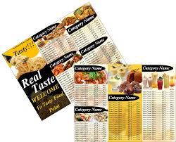 free restaurant menu templates free printable word templates