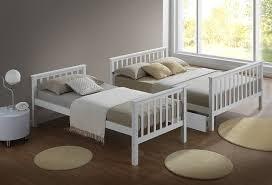 Artisan New Sleeper Bed Wood White Piece Amazoncouk - Three sleeper bunk bed