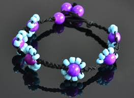 diy beaded flower bracelet images How to make an ankle bracelet an ankle bracelets for women jpg