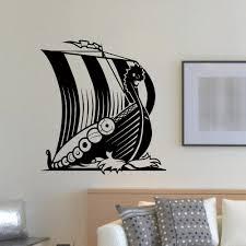 ship boat vinyl wall decal ancient viking ship sea ocean home