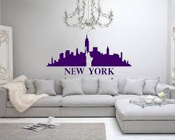 modern wall decals for living room york city silhouette vinyl decals modern wall art sticker