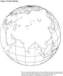 Blank Map Of East Asia by Fill In Asia India Blank Globe Map Classroom Pinterest Globe