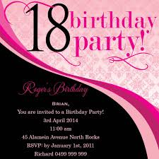birthday invites cool 18th birthday invitations designs 18th
