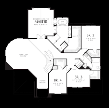 Great Room Plans Mascord House Plan 2368 The Sedgwick