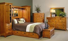 Amish Oak Bedroom Furniture Wall Unit Bed Amazing Beds Costco Pertaining To 8 Interior And