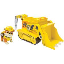 nickelodeon paw patrol rubble u0027s digg u0027n bulldozer vehicle and
