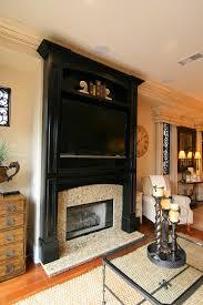 black fireplace mantel fireplace ideas