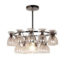 lighting u0026 lamp wine glasses chandelier wine glass chandelier