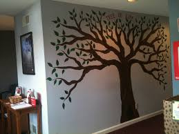 murals washing stenciling businesses bathrooms click on each tree mural on wall i would do this with a lighter brown and then do