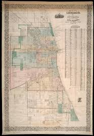 Chicago Map Poster by Mr Robinson Assesses The Damage Hand Annotated 1870 Rufus