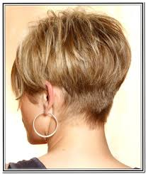 front and back views of hair styles short hairstyles for fine hair back view pinteres