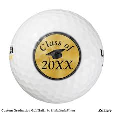 custom graduation golf balls with your text year