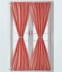 red and white gingham check french door panels
