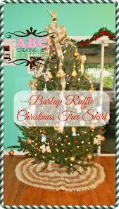 no sew ruffle burlap christmas tree skirt