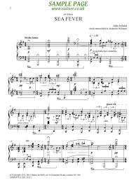 ireland john sea fever freely transcribed by roderick williams