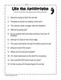 apostrophe worksheetsworksheets