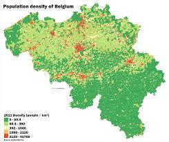 belguim map detailed population density map of belgium 2011 4997x4212 oc