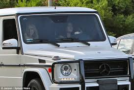 kris jenner mercedes suv look out jenner is back on the road in a white suv