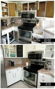 before and after painted kitchens