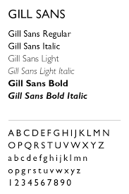 gill sans light font ksu visual identity program typography