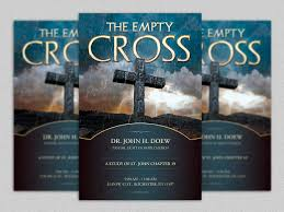 easter cantatas for church empty cross flyer template is geared towards usage for any church