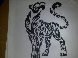tribal jaguar design
