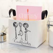 Canvas Storage Bins Cookbooks Canvas Storage Bin Charming Fabric Kitchen Cookbook