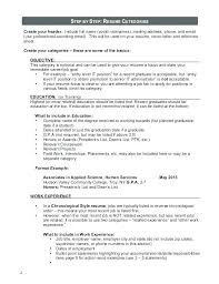 exle of resume to apply resume work experience section create for server sle