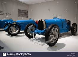 vintage bugatti race car blue racing bugatti cars type 35 at schlumpfs motor museum stock