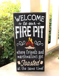 Fire Pit Signs by Fall Season Signs Canton Antiques