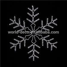 high quality led big snowflake light led sculpture