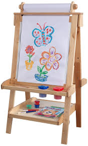 magnetic easel for toddlers amazon com kidkraft deluxe wood easel natural toys games
