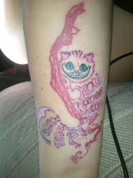 cheshire cat tattoo u201cyou may have noticed i u0027m not all there