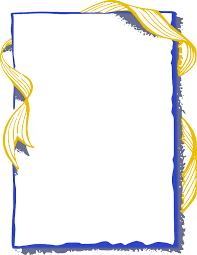 blue and gold ribbon ribbon frame gold blue page frames more frames ribbon edge