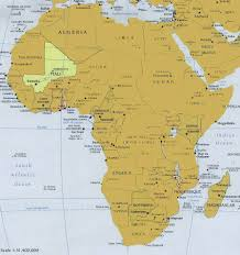 Mali World Map by Africa Map Ochre2 Janet Goldner