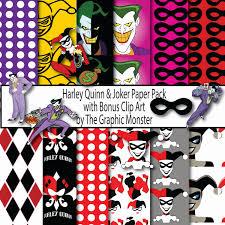 joker and harley quinn digital paper joker scrapbook paper