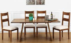 Online Dining Table by Buy Larne 6 Seater Dining Table Veneer Top Online In India