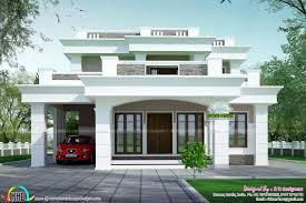 Flat Roof House Design India Best Image Voixmag