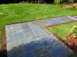 Dry Laid Bluestone Patio by Bluestone Walkway And Granite Steps Boxborough Ma Concord