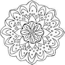 Coloriage Mandala Fleur en Ligne Gratuit à imprimer