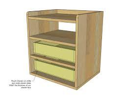 modern night table ana white two drawer shelf modern nightstand diy projects