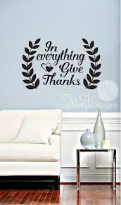 thanksgiving decals in everything give thanks wall decal thanksgiving decor