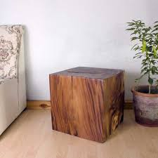 wood cube end table end table cube 18 carved wood furniture grey oak walnut finish
