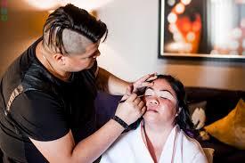 wedding makeup artist las vegas cosmopolitan las vegas wedding preparations photographs