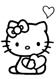 kitty heart coloring free printable coloring pages
