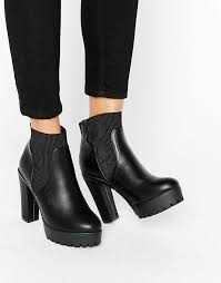 womens ankle boots sale uk durable river island chunky high ankle boot womens in black