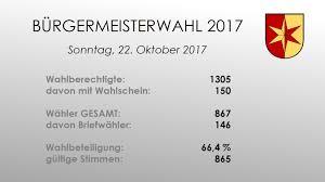 Plz Bad Rappenau Bürgermeisterwahl 2017 Gemeinde Siegelsbach