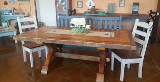 Old Wooden Table And Chairs Amish Made Reclaimed Barn Wood Farnhouse Furniture Old Barn Star