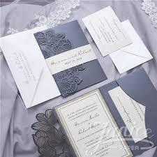 tri fold invitations exquisite flower tri fold laser cut wholesale pocket wedding