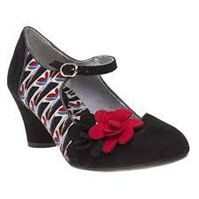 Shoo Hg ruby shoo s black low heel shoe black and